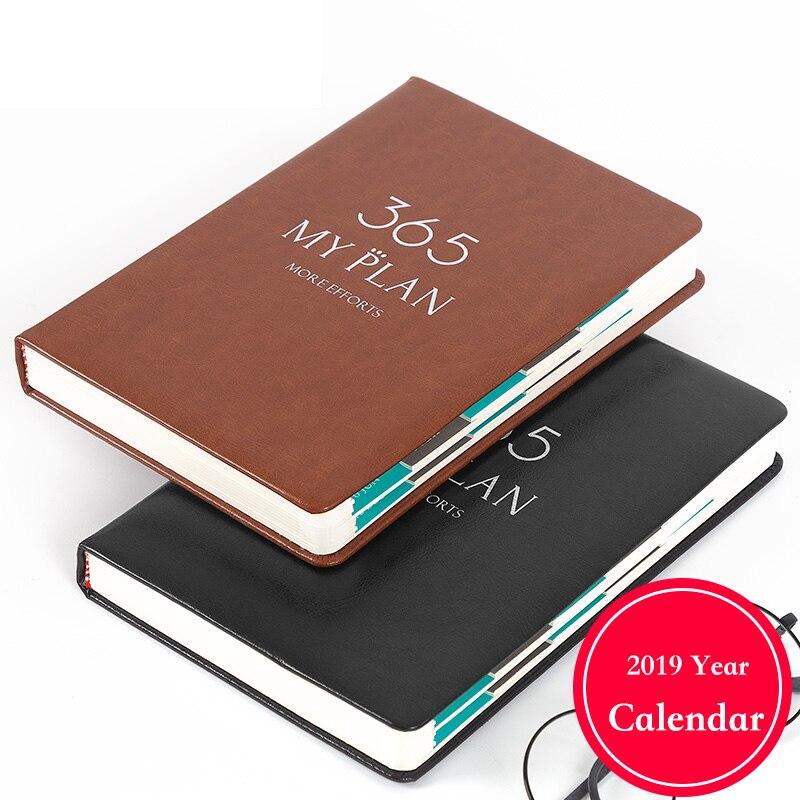 Notebooks & Schreibblöcke Office & School Supplies A7 Notebook 2019 Jahr Agenda Logo Anpassen Kalender Planer Tägliche Unternehmen Binder Schule Monatlichen Plan Tagebuch Büro Liefert