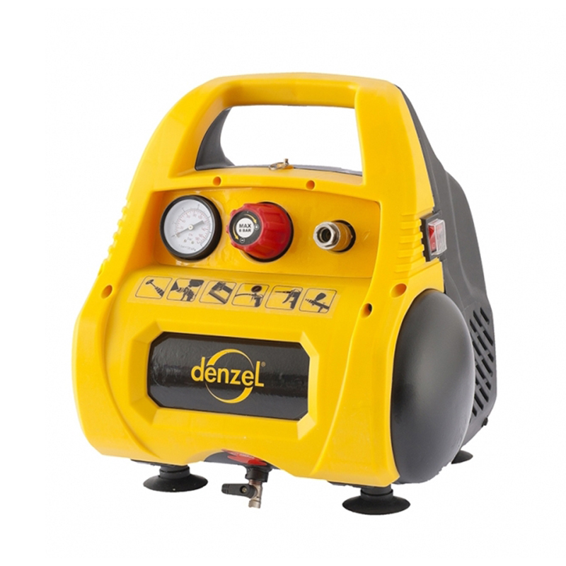 Air compressor DENZEL 58057 portable air compressor electric pump with barometer