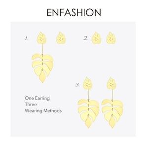 Image 4 - ENFASHION Hollow Monstera Leaf Drop Earrings For Women Bling Bohemian Dangle Earings Fashion Statement Holiday Jewelry EB191061
