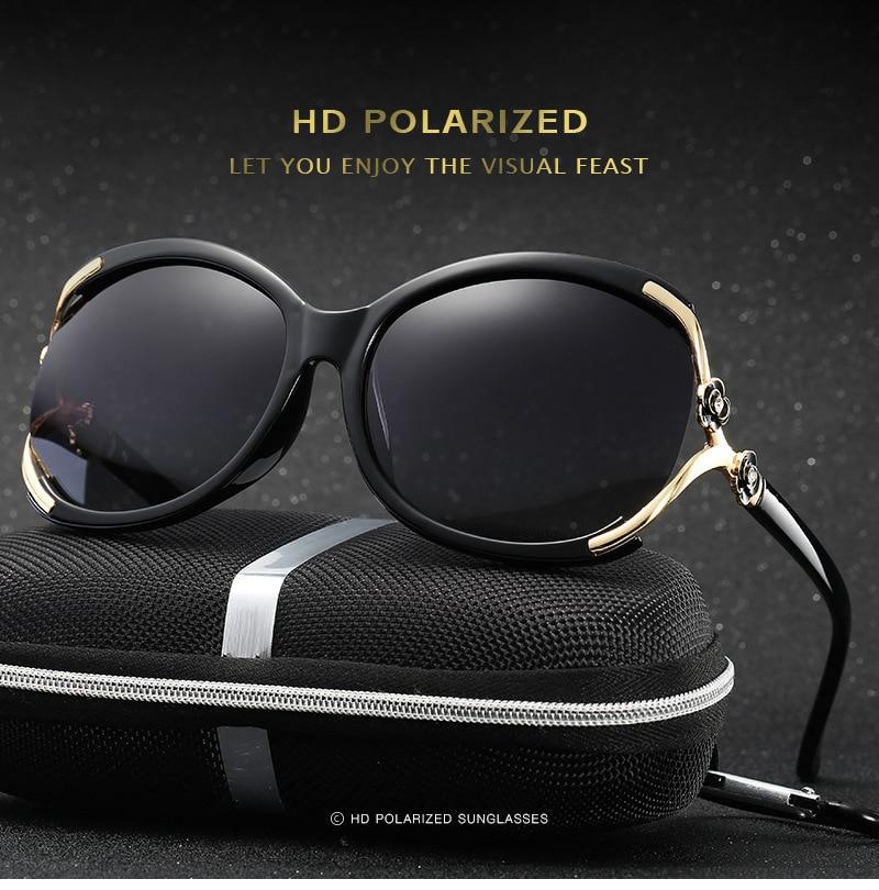 Nova moda óculos polarizados mulheres marca designer verão hd lente - Acessórios de vestuário