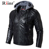 Men Leather Suede Jacket Fashion Autumn Motorcycle PU Leather Male Winter Bomber Jackets Outerwear Faux Leather Coat
