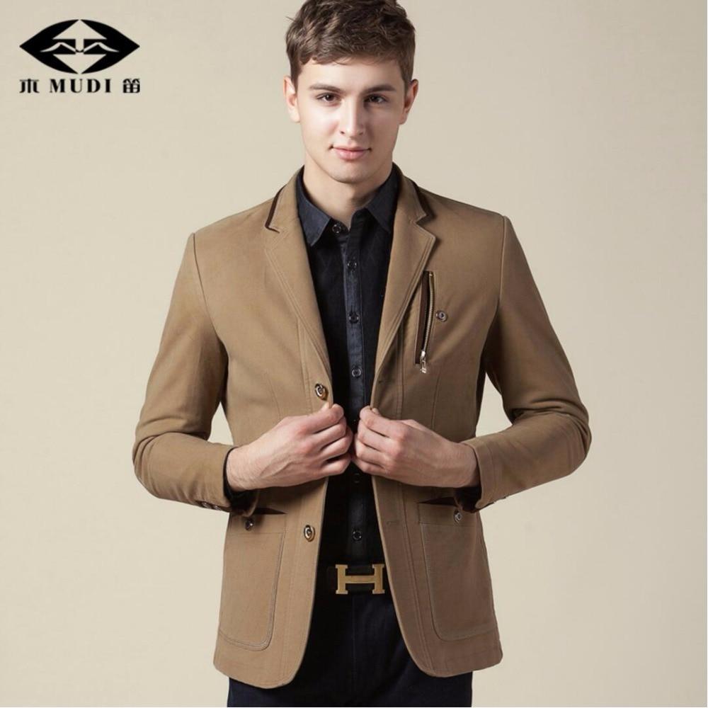 MUDI Brand 2017 Men s 6XL Business Cool Blazers Male Slim Fit Linen Wedding Suits Overcoat