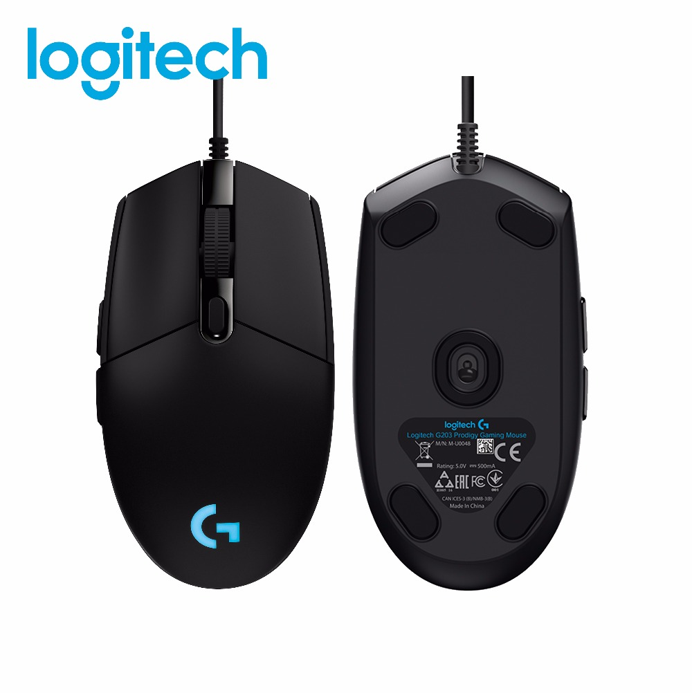 Logitech G102 PRODIGY souris Gaming optique 6,000 DPI, 16.8 M couleur LED personnalisation, 6 boutons-Version internationaleLogitech G102 PRODIGY souris Gaming optique 6,000 DPI, 16.8 M couleur LED personnalisation, 6 boutons-Version internationale