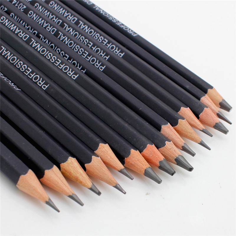 14pcs Sketch and Drawing Pencil Set Sketch Art Drawing Pencil 6H-12B Pro Sketching Pencils for Artist
