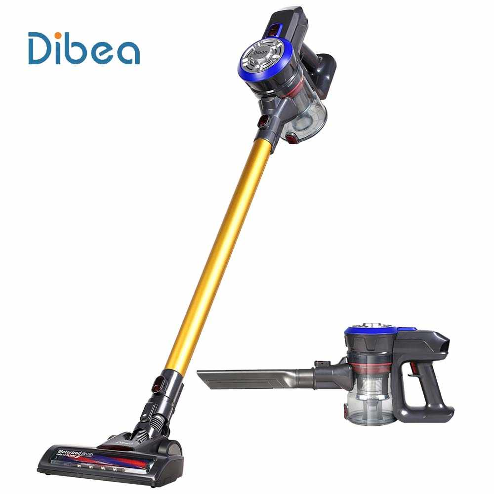Dibea D18 Portable 2 In 1 Handheld Draadloze Stofzuiger Cycloon Filter Sterke Zuigkracht Dust Collector Met Muur Opknoping Rack