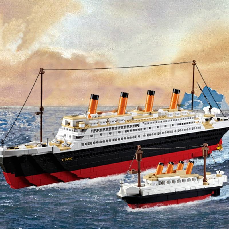 Sluban 0577 RMS конструктор совместимый с лего Титаник круиз город корабль  3d лодка модель здания наборы создатель Блоки Кирпичи DIY игрушка Рождество  - купить недорого в интернет-магазине с доставкой: сравнение цен,  характеристики,