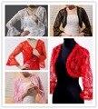 Красный / чёрный / белый / слоновая кость 4 цвета шаль обертывания накидка пашмина свадьба платье свадебное кружево болеро куртка