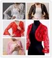 Vermelho / preto / branco / marfim 4 cores xaile Wraps cabo Pashmina vestido de noiva Lace Bolero