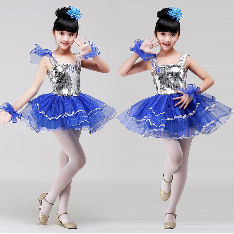 Children 39 s Dance Performing Service Kindergarten Dance Dress Girl Jazz Dance Clothing Children Ballroom Dance Dress in Ballroom from Novelty amp Special Use