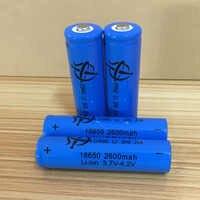 Novo 6 pces 18650 bateria recarregável 3.7v 2600mah bateria de lítio para baterias de lanterna 4.2v pequena bateria do ventilador