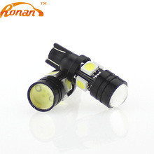 RONAN LED 5W5 T10 Black Blade 4SMD 1.5W Parking Car Styling DIY Automobile lights Projector lens for Interior lamp white colour