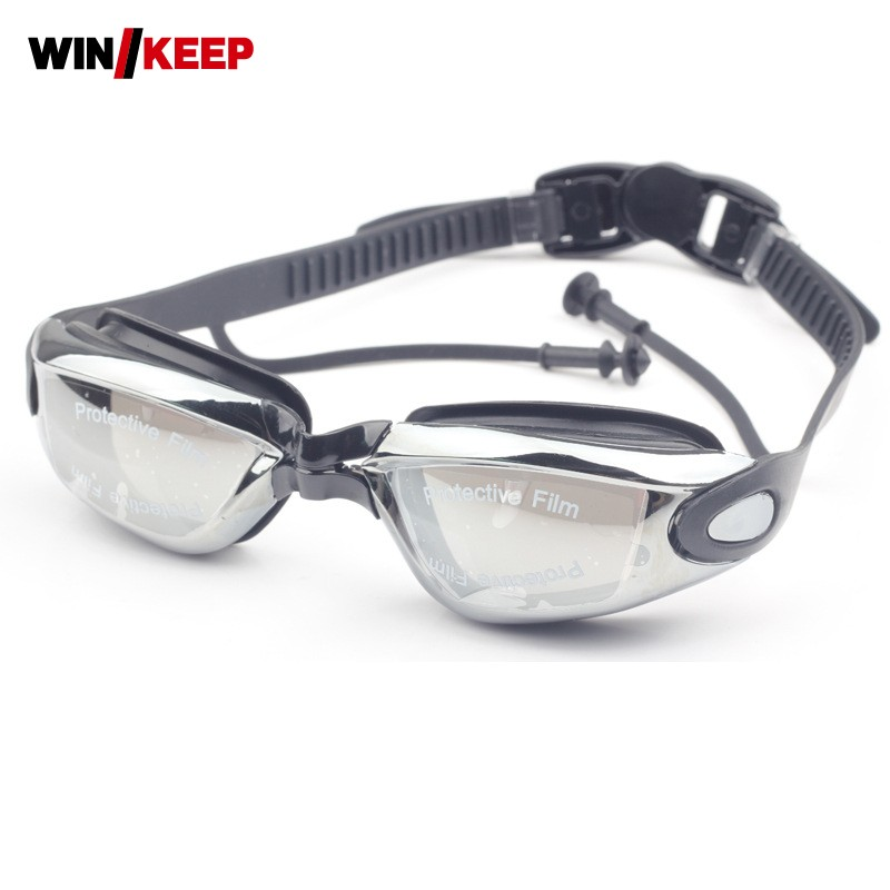 2018 Summer New Men Outdoor Swimming Pool Goggles Adult Comfortable For Men Goggles Swimming Professional Glasses Arena Black