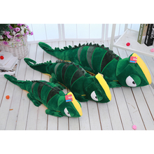 80cm zaļā ķirzaka plīša rotaļlieta, hameleona plīša spilvena spilvens, ķirzaka pildīta dzīvnieku lelle