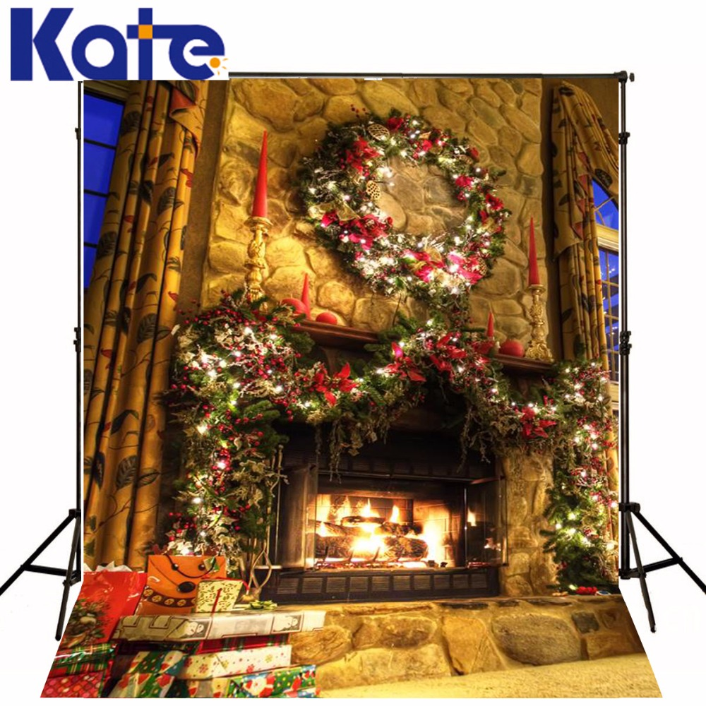 christmas photo background Lights the fire in the New Year  5x7ft(1.5x2.2m) fondos estudio fotografico ZJ the woman in the photo
