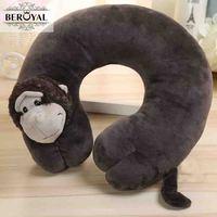 Beroyal Particles U-shaped neck Pillow cartoon animal Car/bus Travel Pillows cotton Memory Foam Healthy Nap office kid's gift