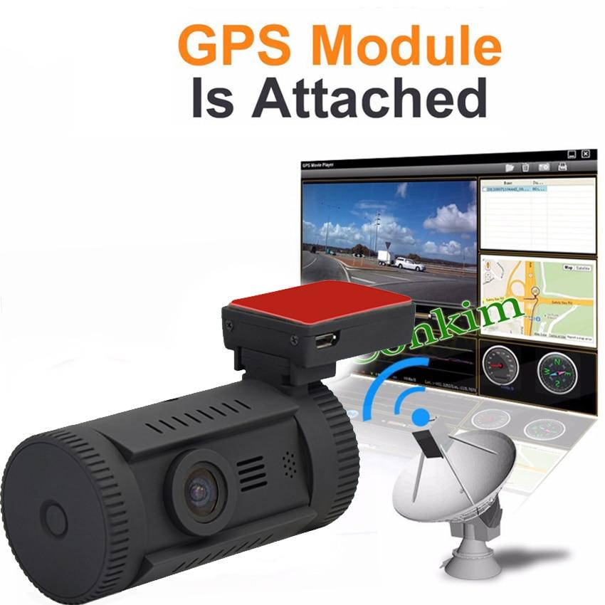 Caméra de tableau de bord Conkim voiture MINI 0826 P 1296 p 30fps H.264 WDR GPS DVR capteur de stationnement vidéo condensateur de Protection basse tension - 2