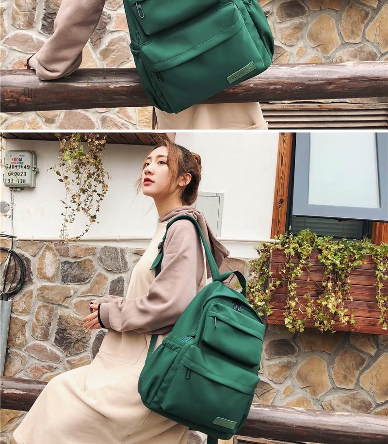 HTB19qbjKAzoK1RjSZFlq6yi4VXaX DCIMOR New Waterproof Nylon Backpack for Women Multi Pocket Travel Backpacks Female School Bag for Teenage Girls Book Mochilas