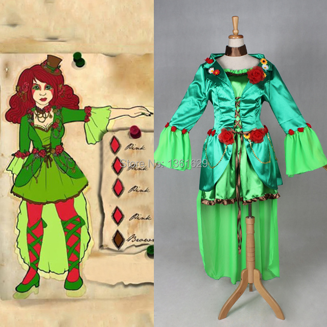 Good Quality Poison Ivy Halloween Costume Cosplay For Women Adult