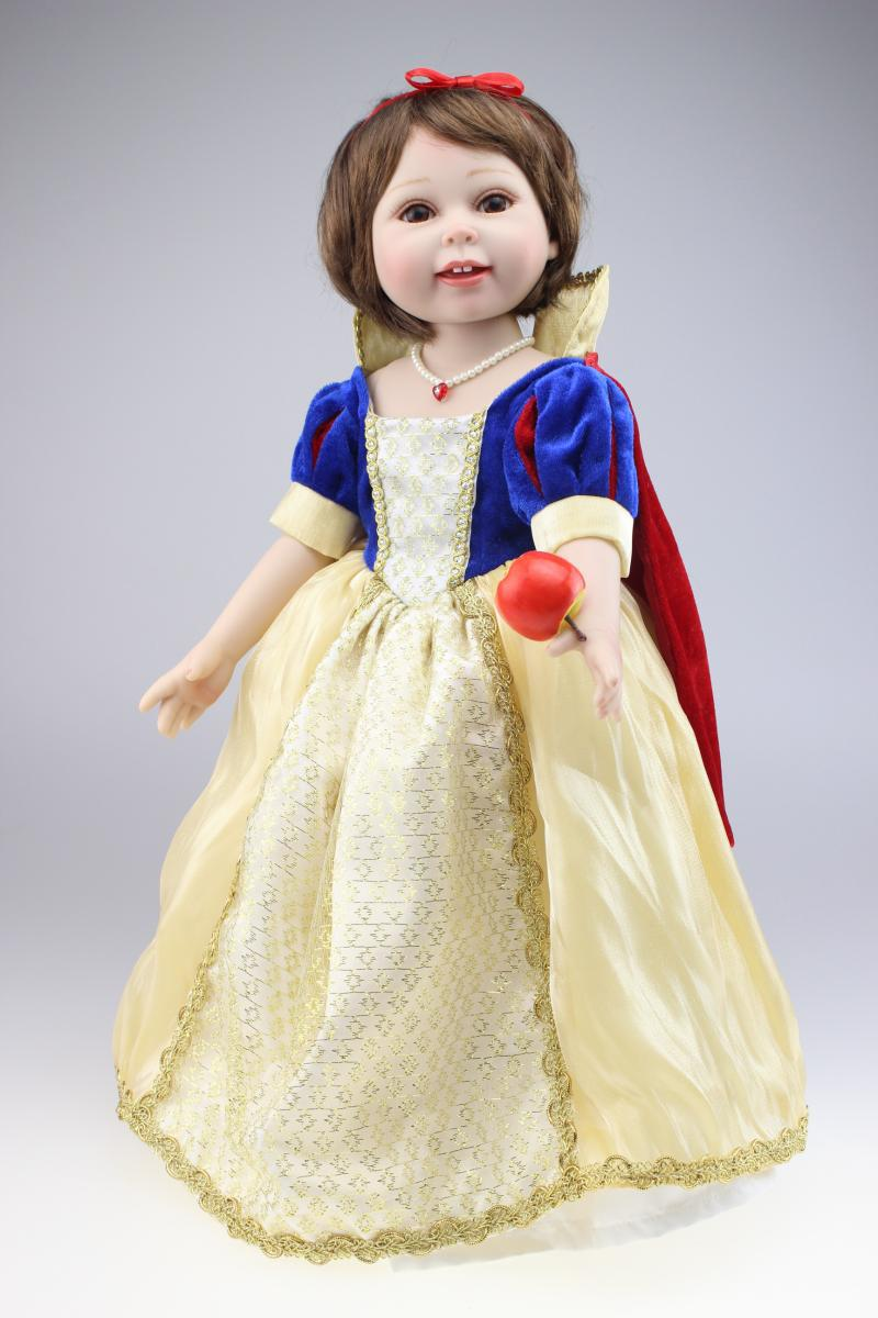 Vinyl american girl dolls lifelike baby doll toys snow white pricess doll play house girl brinquedos kid birthday christmas gift lifelike american 18 inches girl doll prices toy for children vinyl princess doll toys girl newest design