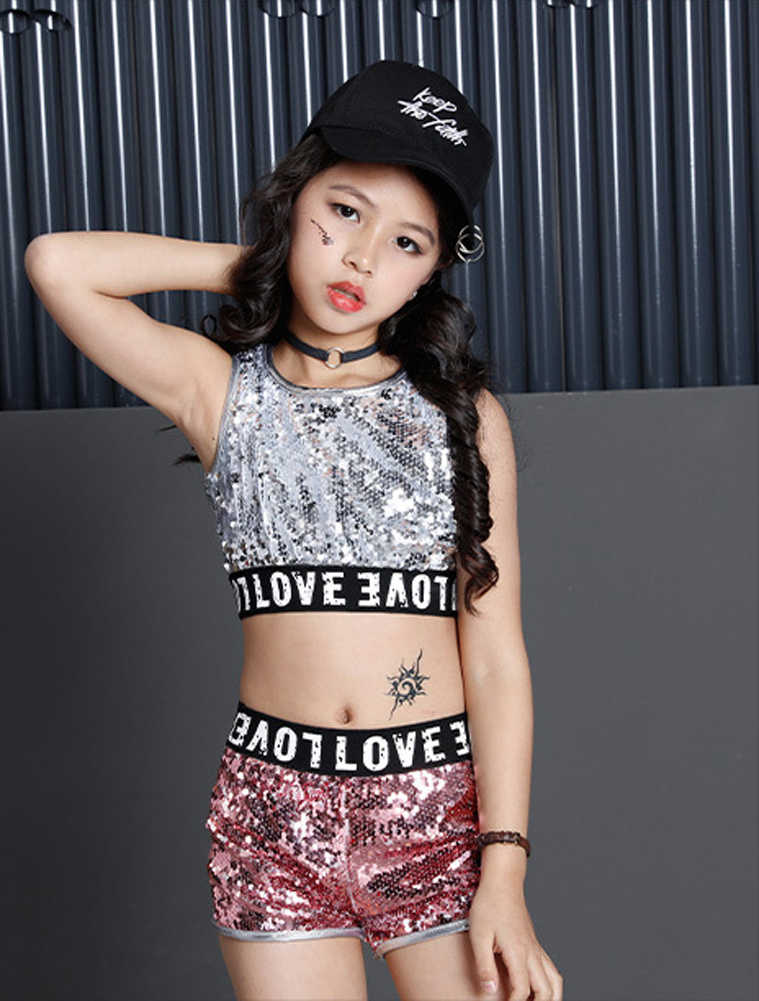 645b4a36720c Detail Feedback Questions about Girls Paillette Glitter Dancewear ...