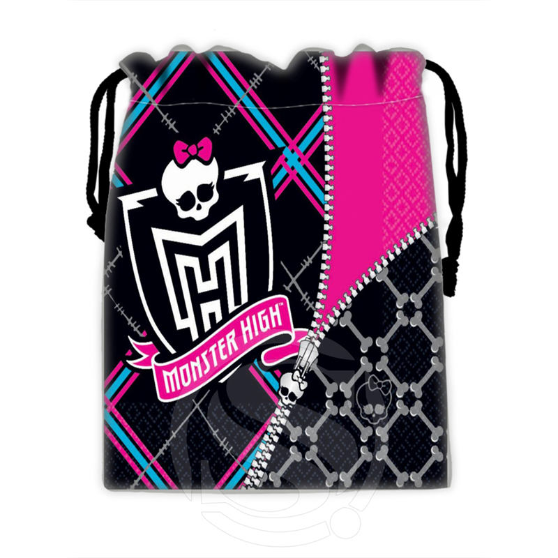 H-P763 Custom Monster High#7 Drawstring Bags For Mobile Phone Tablet PC Packaging Gift Bags18X22cm SQ00806#H0763