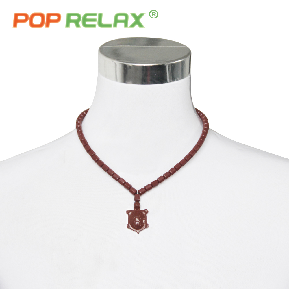 POP RELAX Korea bio germanium tourmaline stone necklace negative ion health care physiotherapy long life turtle energy necklace pop relax tourmaline health products prostate massager for men pain relief 3 balls germanium stone far infrared therapy heater