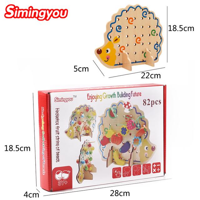 Learning Education Wooden Toys Fruit Beads Montessori Oyuncak Educational Toy