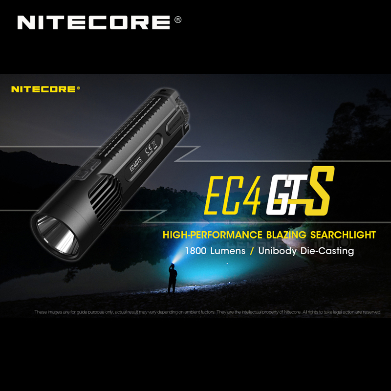 Image 2 - New Arrival Nitecore EC4GTS CREE XHP35 HD LED 1800 Lumens High performance Blazing Searchlight Flashlight-in Flashlights & Torches from Lights & Lighting