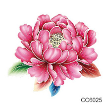 Temporary Tattoos Waterproof Tattoo Stickers Body Art Painting For Party Decoration Red Nice Flower