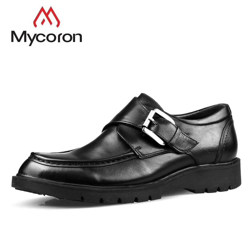 Bracelet marron Homme Le Noir Chaussures Cuir Boucle Véritable De Robe Causal Mycoron En Mens Hommes Formelle Nouveau Bureau Richelieu 4wXUqf