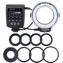ES FC100 Macro Ring Flash Light 8 Adapter Rings Flashes for Canon Nikon Sony Fujifilm Olympus Panasonic Hot Shoe Digital Cameras