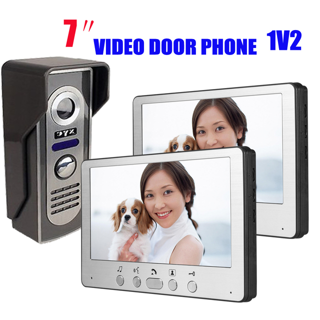 7 Inch 1V2 Zinc Alloy Wired Intercom Video Door Phone