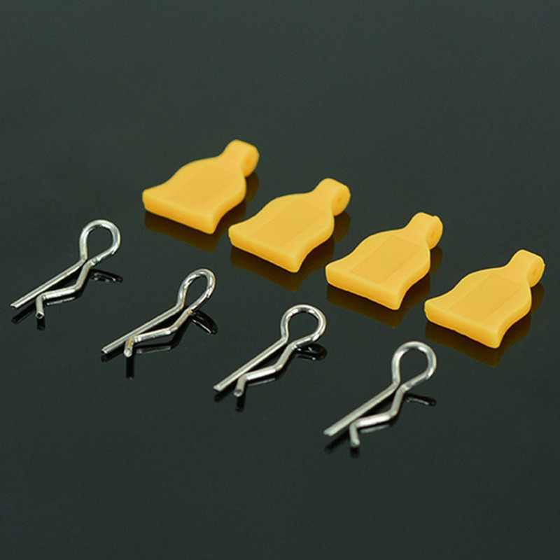 GWOLVES Easy to disassemble Silica gel Body Shell Clip R Pins for 1/10 RC Hobby Model Car HPI HSP Traxxas Axial Kyosho Wltoys