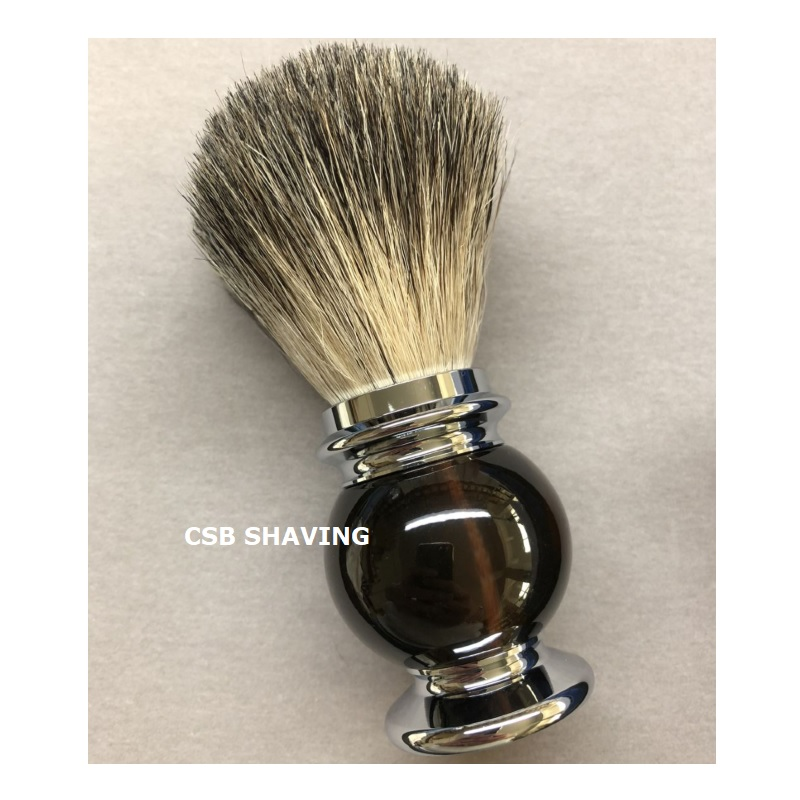 CSB Pure Badger Hair Knot 20mm Shaving Brush Barber Shop Salon Mustache Beard Shave Wet Tool Dark Brown Resin Handle