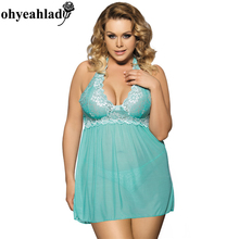 R80003 Ohyeahlady Sexy Babydoll Solid See Through Women Sexy wearing Hot sexy lingerie 2016 Lace Sexy Lingerie Women