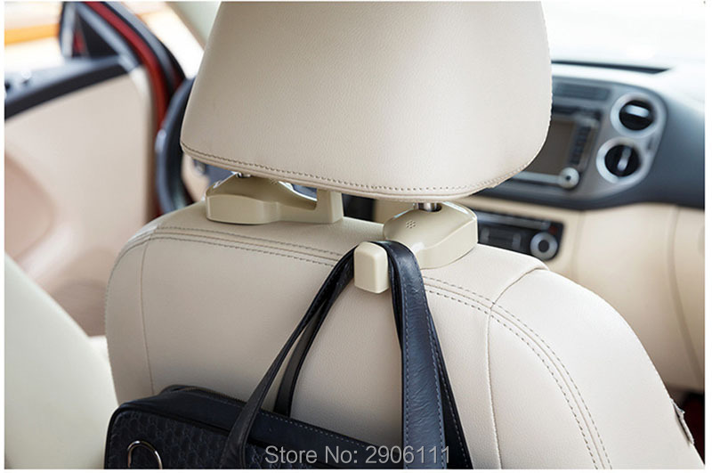 2PCS creative Auto Portable Seat hook Hanger for Nissan qashqai tiida almera juke primera x-trail note Sunny March car-styling