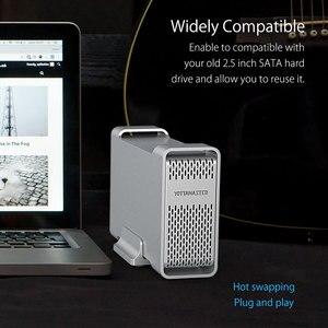 Image 4 - Yottamaster HDD Gehäuse Sata auf USB Typ C 2,5 zoll Hdd Fall Externe Festplatte Box Unterstützung Raid für 2,5 zoll 7 15mm HDD