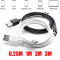 "0.25/1/2/3M Black/White Type-C 3.1 Type C USB Data Sync Charger Cable For Nokia N1 For Macbook 12"" OnePlus 2 ZUK Z1 Nexus 5X/6P"