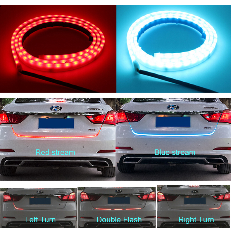 Fastcar car-styling DRL LEDs Daytime Running Light Strip trunk light with Side Turn Signals Car Braking light