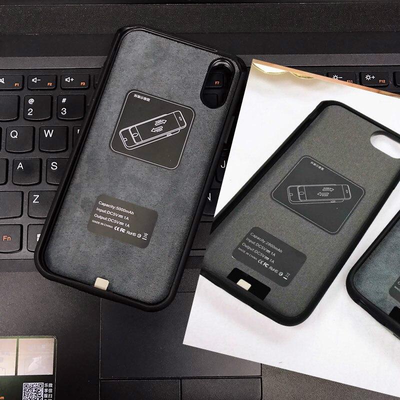 5000 mah/2800/4000 mah Batterie Chargeur Cas Pour l'iphone X 8 7 Plus 6 plus Mignon Mode banque de puissance Externe De Sauvegarde De Charge Couverture