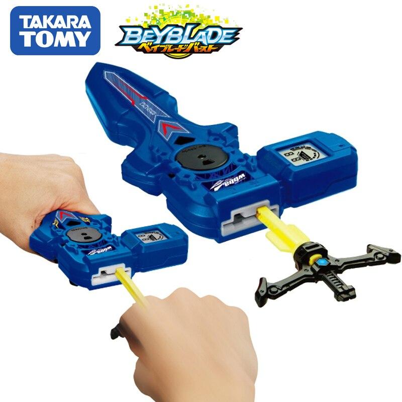 Original TOMY Beyblade estalló lanzador B-93 DIGITAL espada lanzador derecho azul izquierda rotación doble bey blade juguete para los niños
