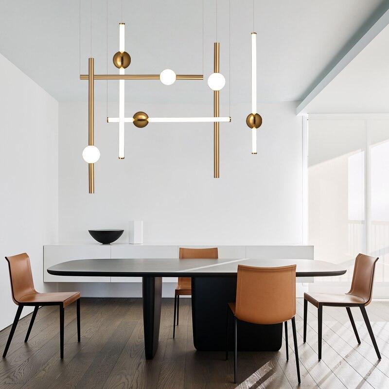 Lustres nordiques verre nouveauté lampe bar boutique Europe salle à manger chambre suspendus décoré luminaire LED ampoule AC85-265v