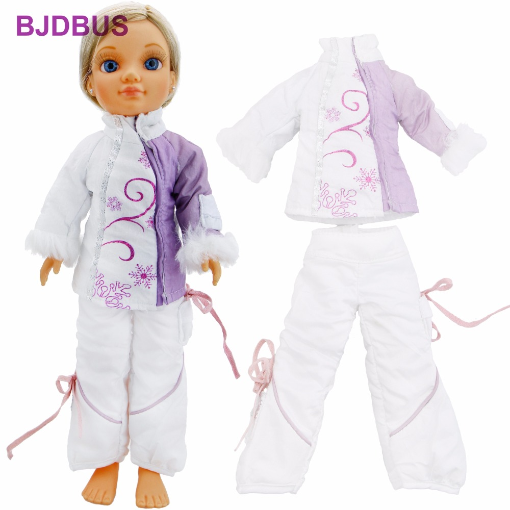 Winter Outfit High Collar Coat Cheongsam Style Long Sleeves Trousers Pants Clothes For Nancy Doll 16'' Accessories Kids Gift Toy 30 new styles festival gifts top trousers lifestyle suit casual clothes trousers for barbie doll 1 6 bbi00636