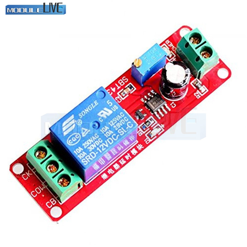Freeshipping DC 12V Delay relay shield NE555 Timer Switch Adjustable Module 0 to 10 Second Wholesale smart 30s timer delay switch us