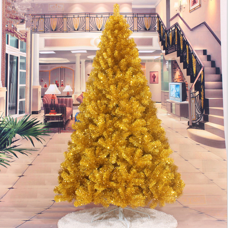 First Christmas Factory Direct 2 1 M 2 4M gold Christmas tree decorated Christmas tree decorations