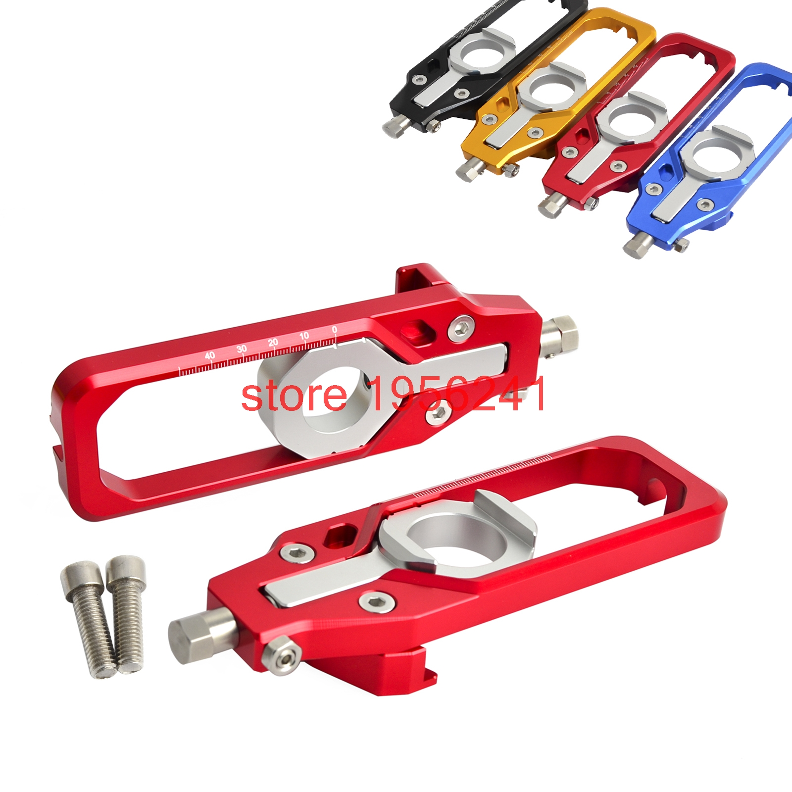 Motorcycle Chain Adjuster Tensioners For BMW HP4 2012 2013 2014 S1000R 2014-2017 S1000RR 2010-2017 new motorcycle cnc billet rear axle spindle chain adjuster blocks for bmw hp4 2012 2014 s1000r 2013 2015 s1000rr 09