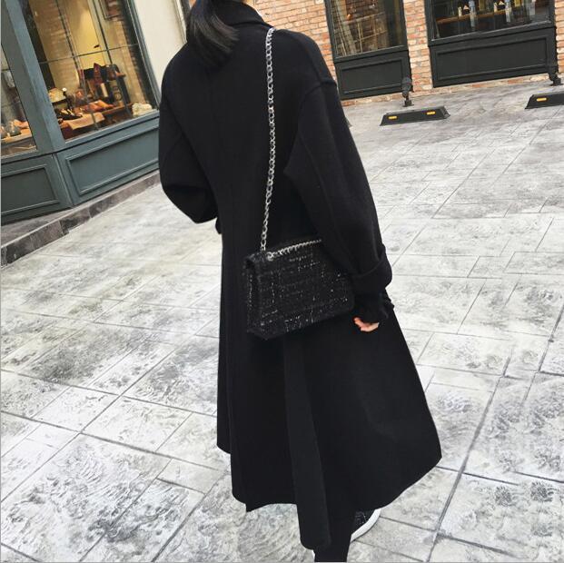Noir Épaississent Manteau Laine De Coupe Manteaux Slim vent Longues Chaud Tranchée Femmes Taille Hiver La À Automne Casual Plus Manches Femme dwqRExY5