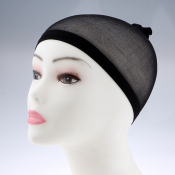 100Pcs Wholesale Breathable Black Spandex Dome Cap Mesh Hair Net for Making Wigs Snood Stretchy Wig Cap 4