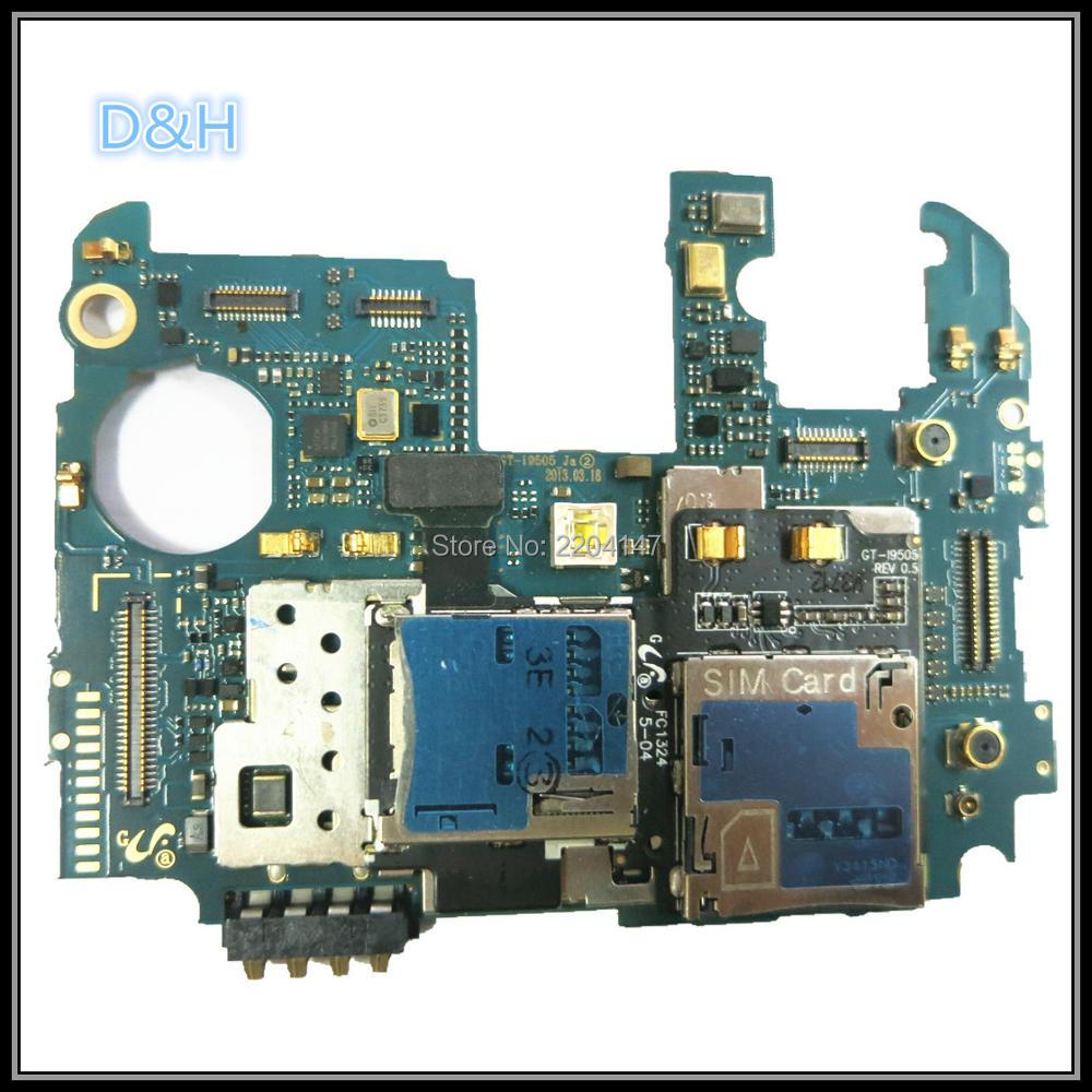 цены Full Working Original Unlocked For Samsung Galaxy S4 i9505 Main Board MCU Motherboard Logic Mother Board MB Plate