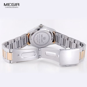 Image 5 - Megir 간단한 스틸 쿼츠 손목 시계 여성을위한 미니멀리즘 아날로그 시계 여성 시계 시간 방수 Relogios 5006L 7N0